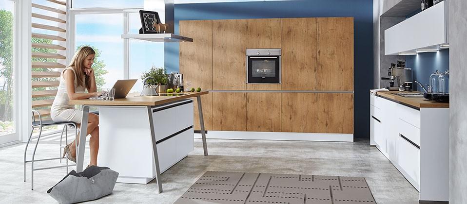 moderne designk che mit griffloser front interk chen. Black Bedroom Furniture Sets. Home Design Ideas